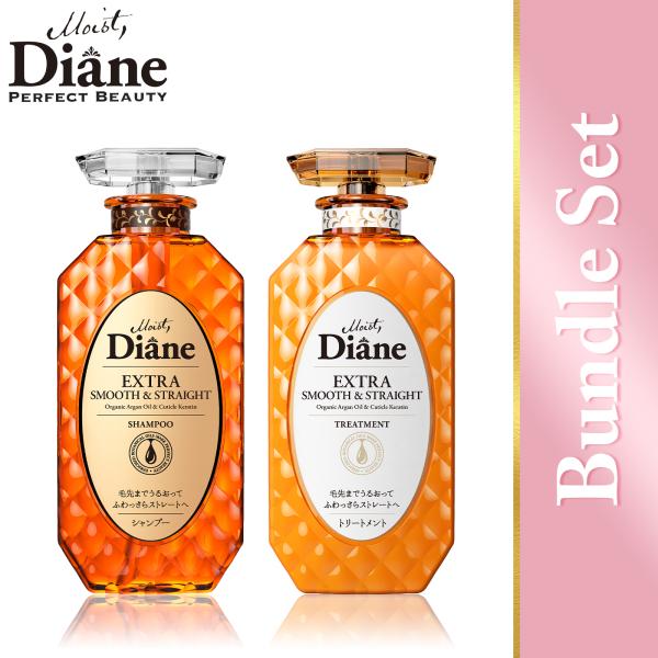Buy Moist Diane Perfect Beauty Extra Smooth & Straight Shampoo (450ml) + Extra Smooth & Straight Treatment (450ml) Singapore