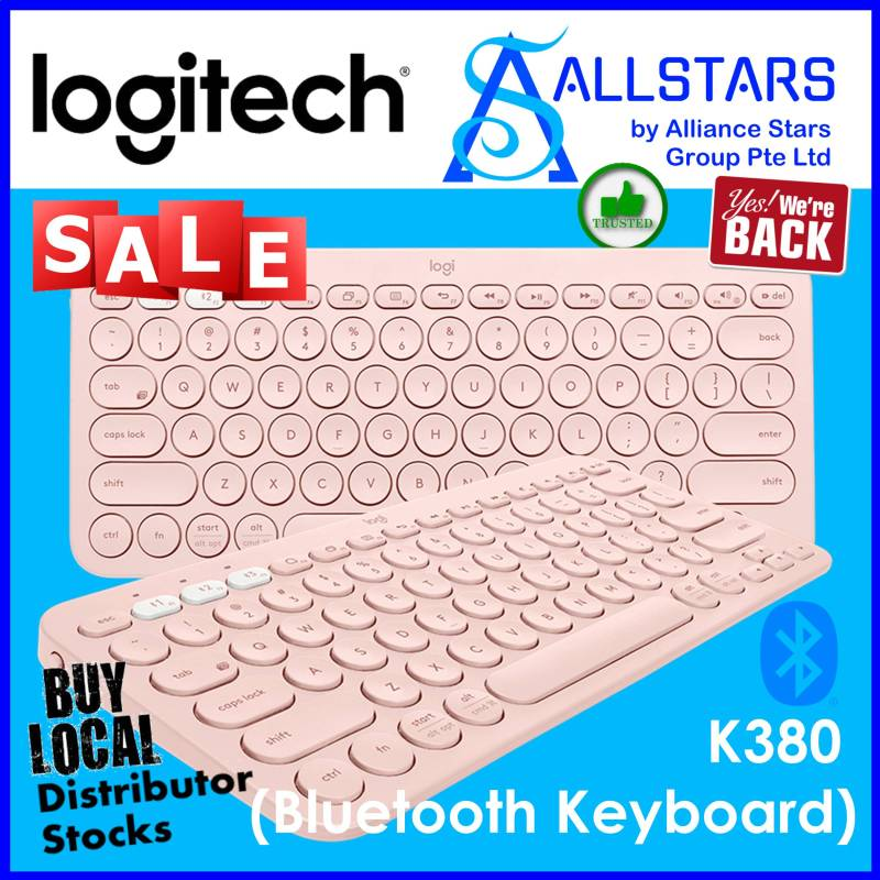 ALLSTARS : We are Back / Keyboard Promo) LOGITECH K380 Multi-device Bluetooth Keyboard (Black : 920-007596 / Blue : 920-007597 / Rose : 920-009579 / White : 920-009580) (Local Warranty 1year with Local Distributor BanLeong) Singapore