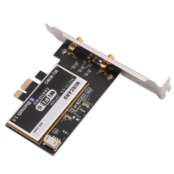 Giá WIRCARD WIFI6 WR-2900 2974M Gigabit PCIe Desktop Wireless Network Card WiFi Receiver 5.0 Bluetooth