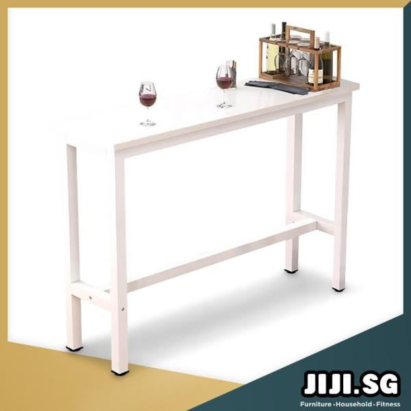 (JIJI SG) Longines Dining Bar Table with Leg Rest (Tables Only) (Free Installation & 6 Month Warranty) - Bar Dining Furniture / Tables / Sets (SG)
