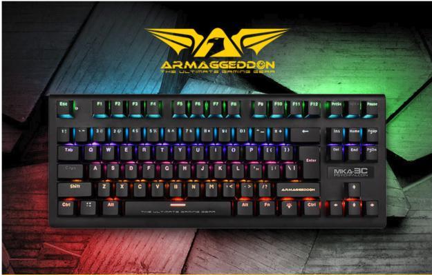Armaggeddon MKA-3C Psychfalcon Mechanical Keyboard 2019 (Blue Switch) Singapore