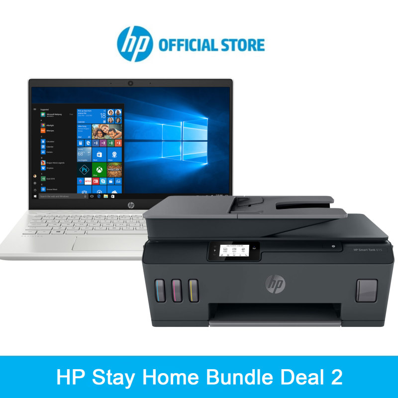 HP Stay Home Bundle Deal (1x HP Pavilion Laptop - 14-ce2092tx and 1x HP Smart Tank 615 Wireless Printer All-in-One)