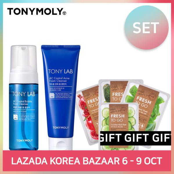 Buy [TONYMOLY] TONY LAB AC CONTROL BUBBLE FOAM CLEANSER & ACNE FOAM (SET) Singapore