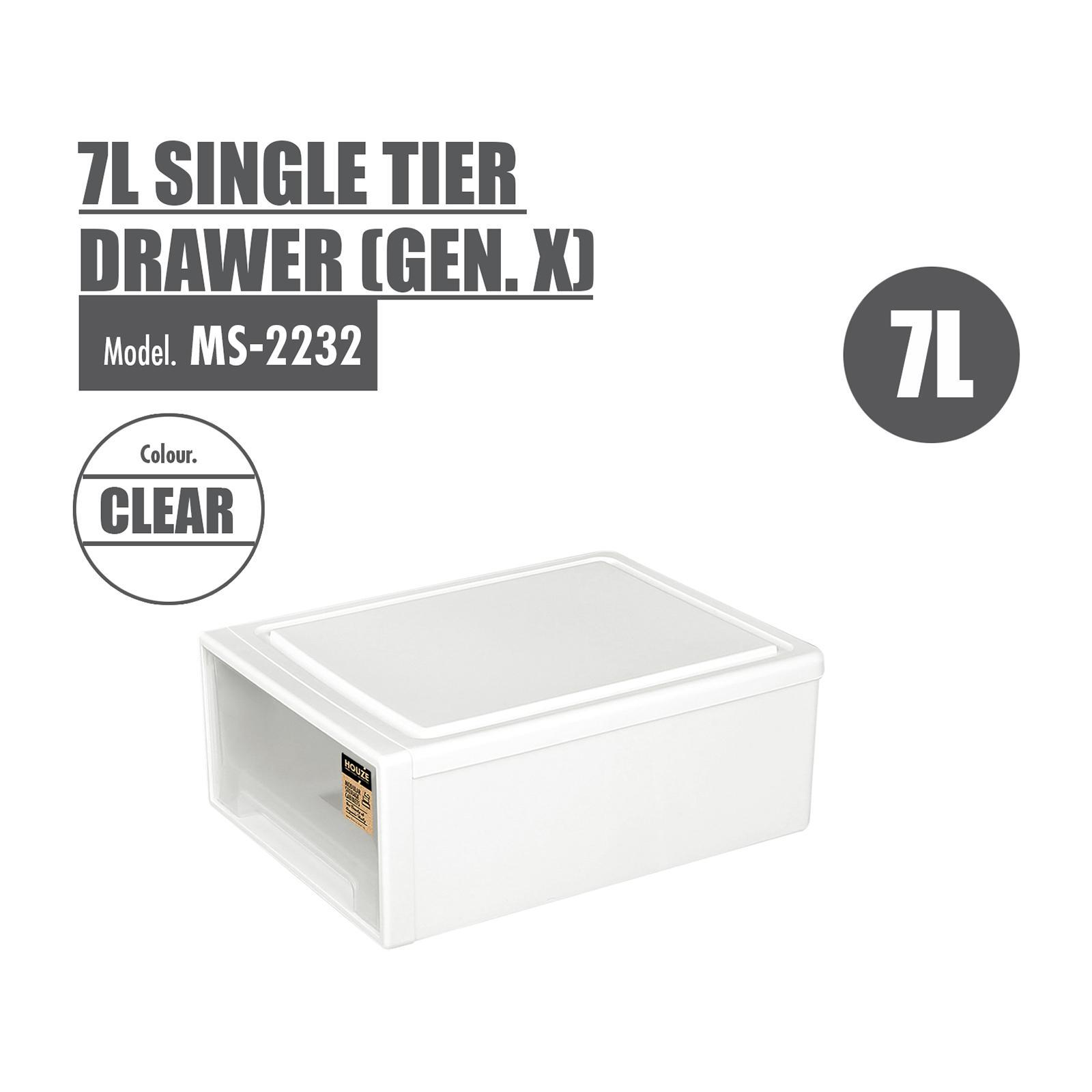 HOUZE 7L Single Tier Drawer