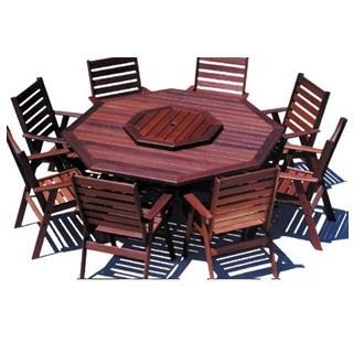 Sheldon Dunsborough Octagon Jarrah Timber Outdoor Dining Table