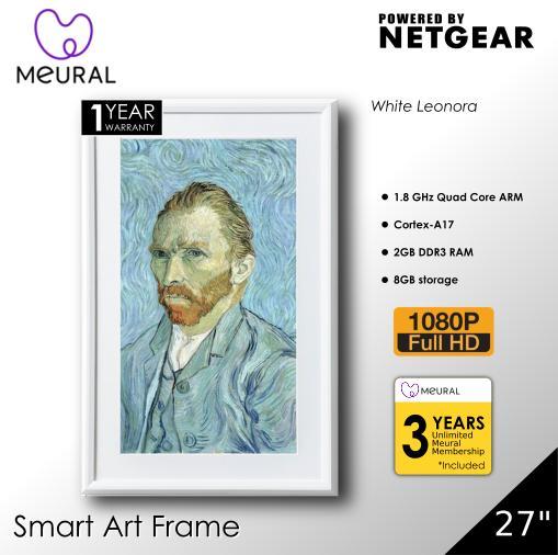 Meural Canvas 27 Smart Art Frame - White Leonora