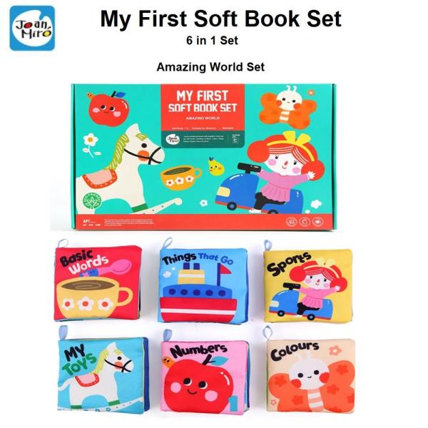 Joan Miro My First Soft Book Set Suitable for Newborn 6 in 1 Set Amazing World Set