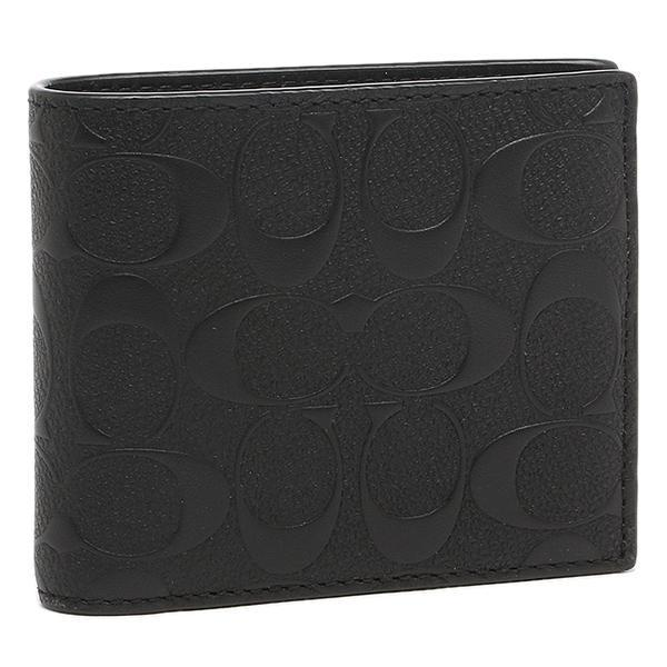 [SG SELLER] Coach F75371 Compact ID Mens Wallet in Signature Crossgrain Leather (Black)