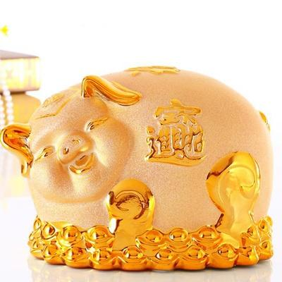JIJI 2019 CNY Fortune Golden Pig (Fortune Smiley) - Seasonal / Home Decor / Lunar Chinese New Year (SG)