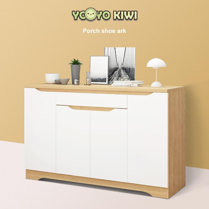 Shoe Storage Cabinet with Drawer and Adjustable Shelf-Storage Floor Cabinet Free Standing Cabinet - 120CM