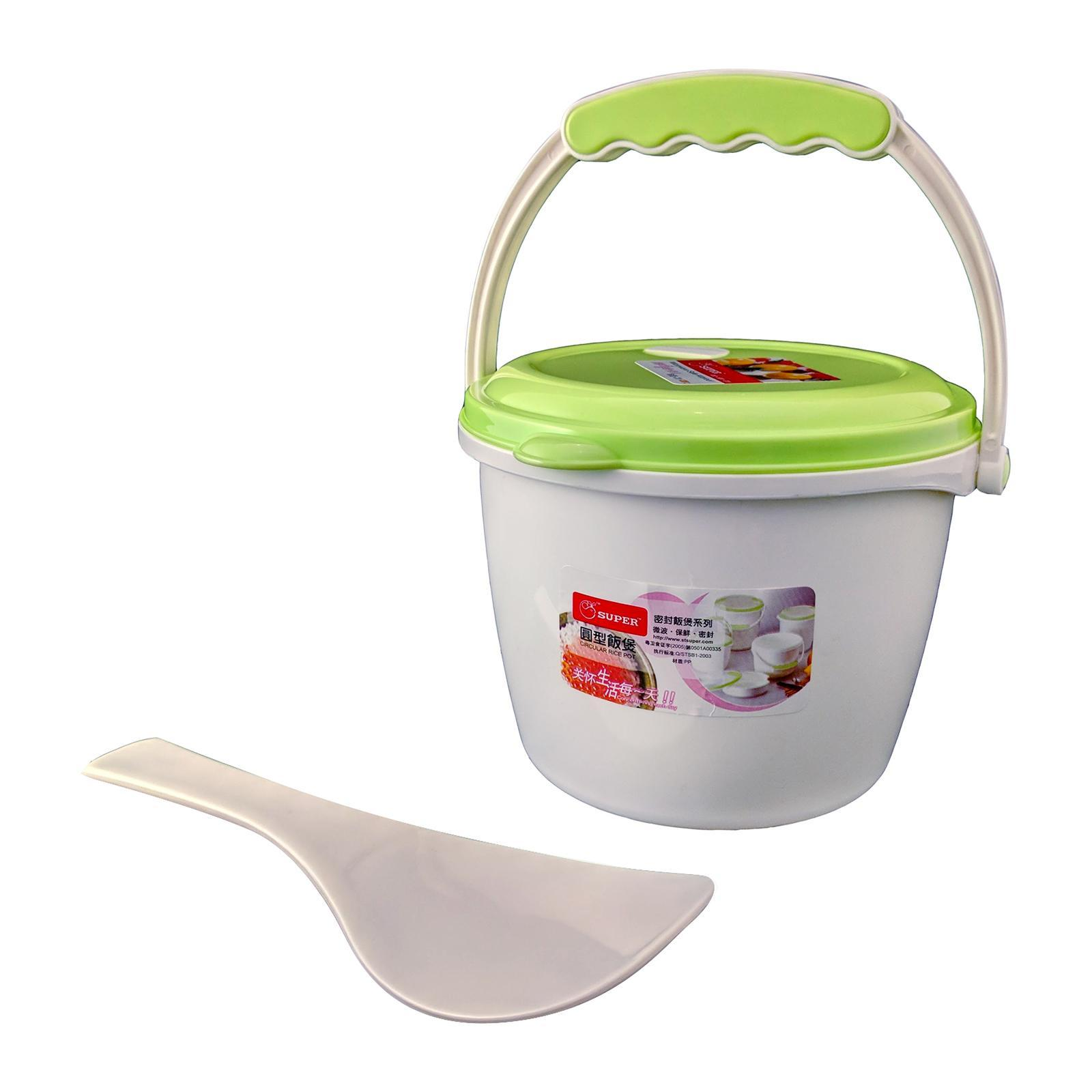 Sitbo Microwave Rice And Food Steamer 14 CM (Green) With Rice Scoop