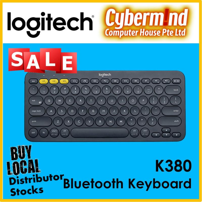 Logitech K380 Slim Multi-Device Bluetooth Keyboard (iOS, Android, OSX, iPhone) with Logitech FLOW Technology (Local Distributors Stocks) Singapore