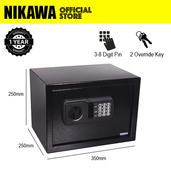 NIKAWA Standard Safe Box NEK250  for home safe, office safe, digital safe(H250 x W350 x D250) (21litres)