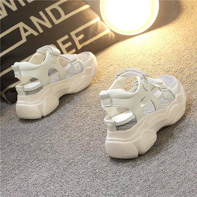 Giày Chunky Zhixun Mềm Mại Cho Nữ Giày Thể Thao Chạy Bộ Đục Lỗ Mùa Hè Dễ Phối Độn Cao Đế Dày Mặt Lưới Thoáng Khí Sành Điệu Instagram giá rẻ