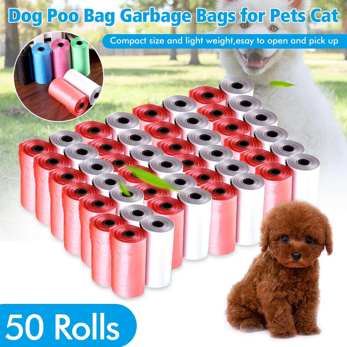 f96216921cd 50 Rolls Portable 1000 Dog Pet Waste Poop Poo Refill Core Pick Up Clean-Up