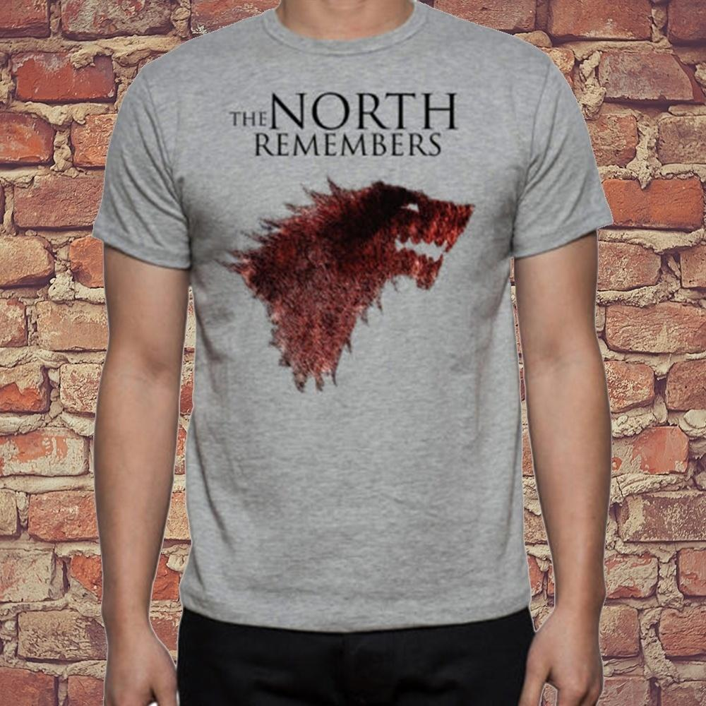 60783889d Game Of Thrones Direwolf Wolf The North Remembers Stark Logo Simple Graphic  Design Shirt Summer Fashion