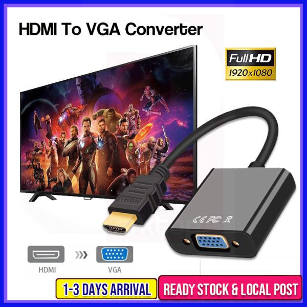 HDMI to VGA Cable HDMI Male to VGA Female RGB Analog VGA Video Audio Converter Adapter Cables HD1080 Digital to Analog Video Audio