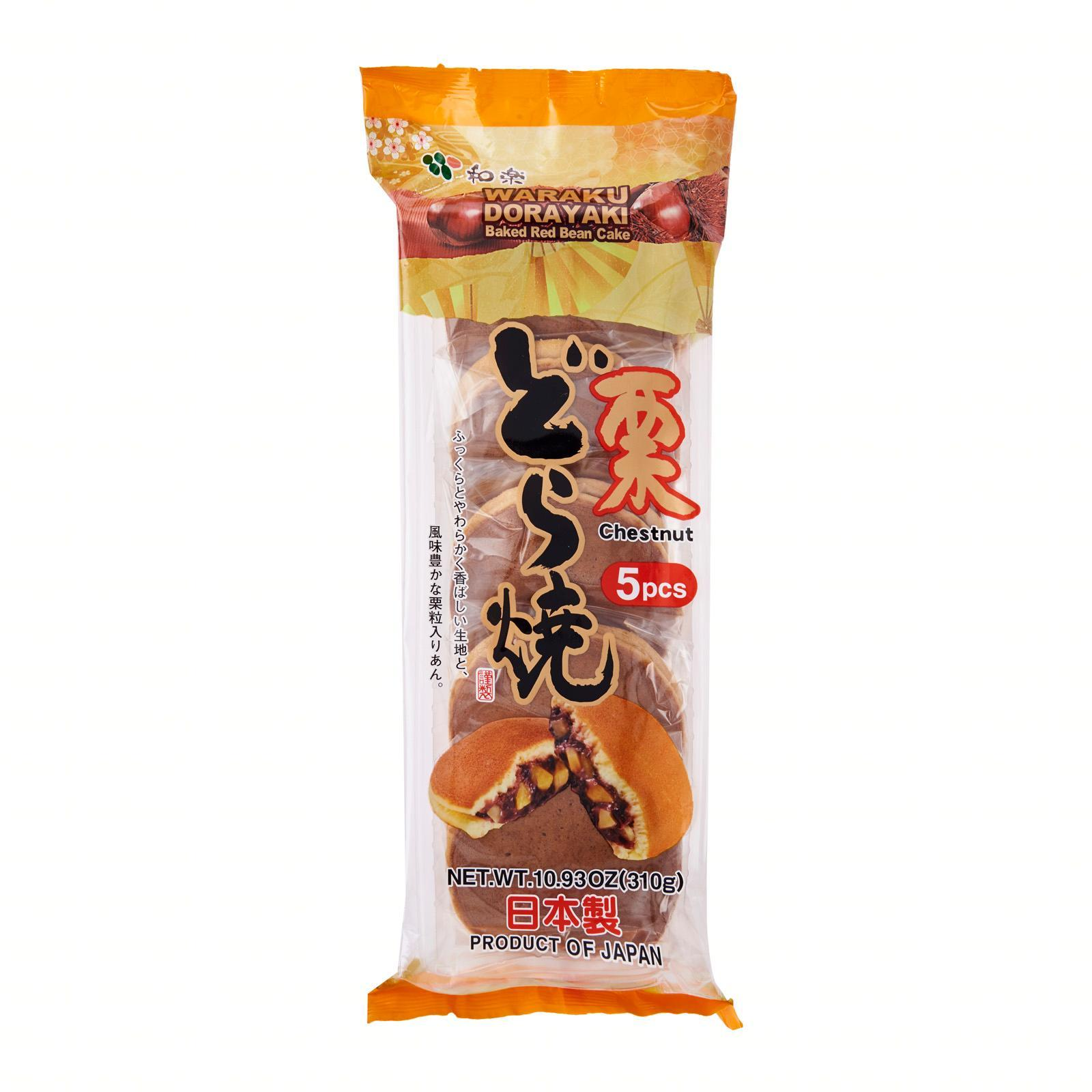 Waraku Dorayaki Japanese Red Bean Pancake With Chestnuts 5 Pcs Pack - Kirei By Redmart.
