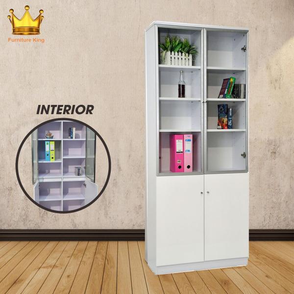 Premium Bookcase Racks/Shelves! ★Janet Bookshelf ★Storage ★Organizer ★Furniture ★Glass Door Cabinet