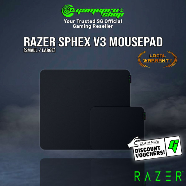Razer Sphex V3 Gaming Hard Mousepad (Available in Small/Large) - (1Y)