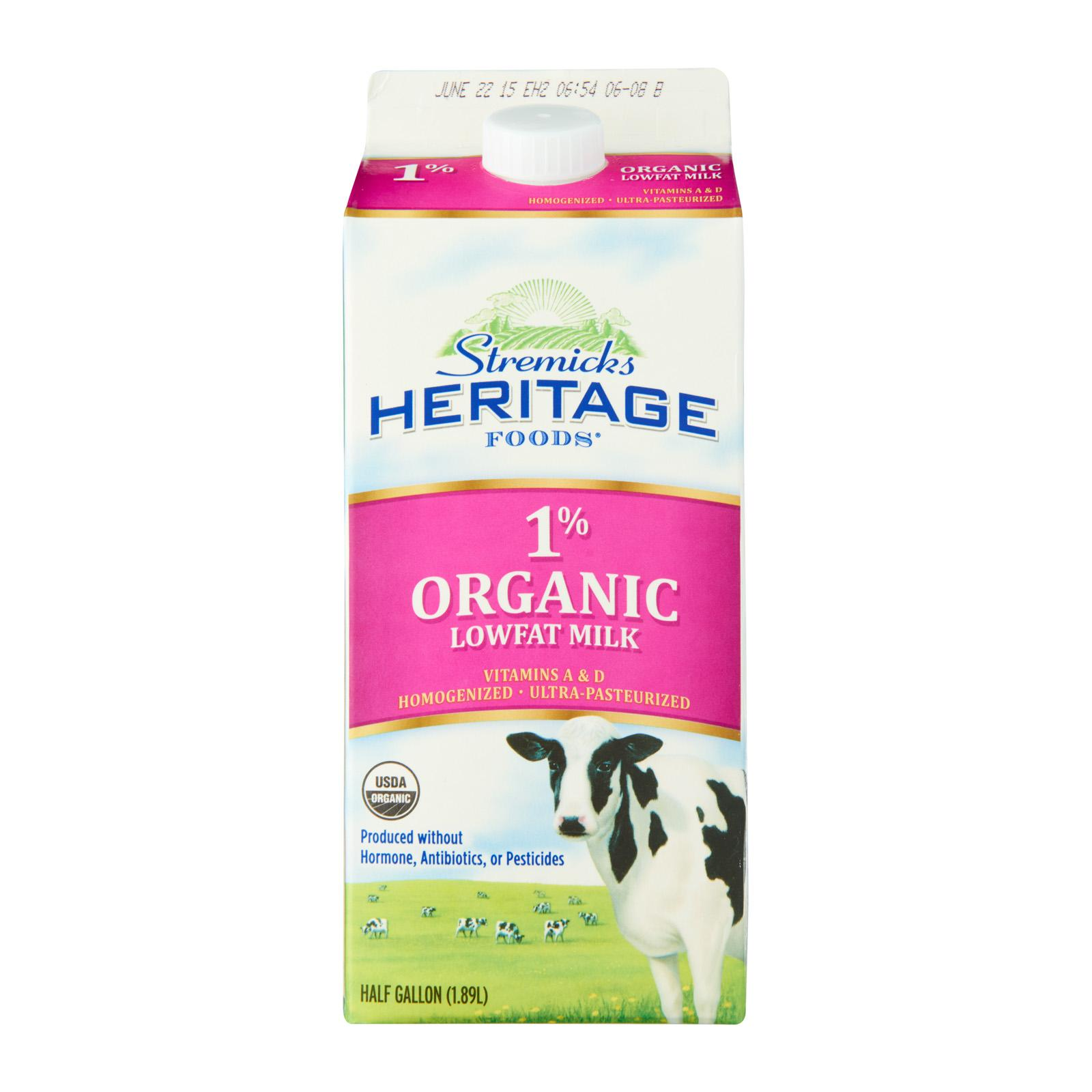 Stremicks Heritage Organic Milk Low Fat By Redmart.