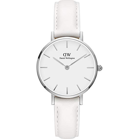 cdedf39122660 Daniel Wellington Classic PETITE BONDI 28mm Silver White Dial White Leather  Quartz Watch DW00100250