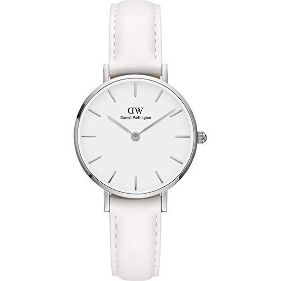719cdd2f9e92 Daniel Wellington Classic PETITE BONDI 28mm Silver White Dial White Leather Quartz  Watch DW00100250