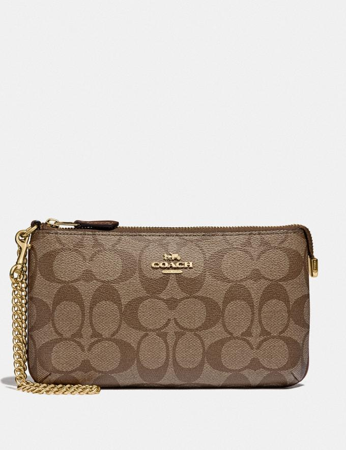 Coach Large Wristlet with Chain Strap F88035 F87771 F79934