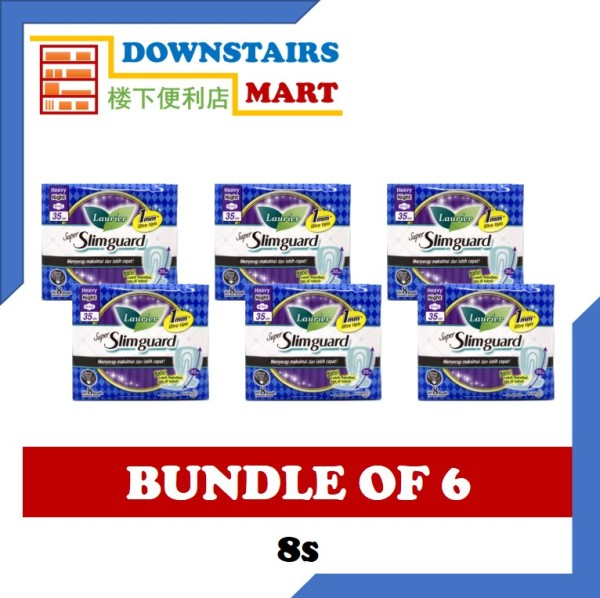 Buy [Bundle of 6] Laurier Super Slimguard Wing 35cm 8s x 6 Singapore