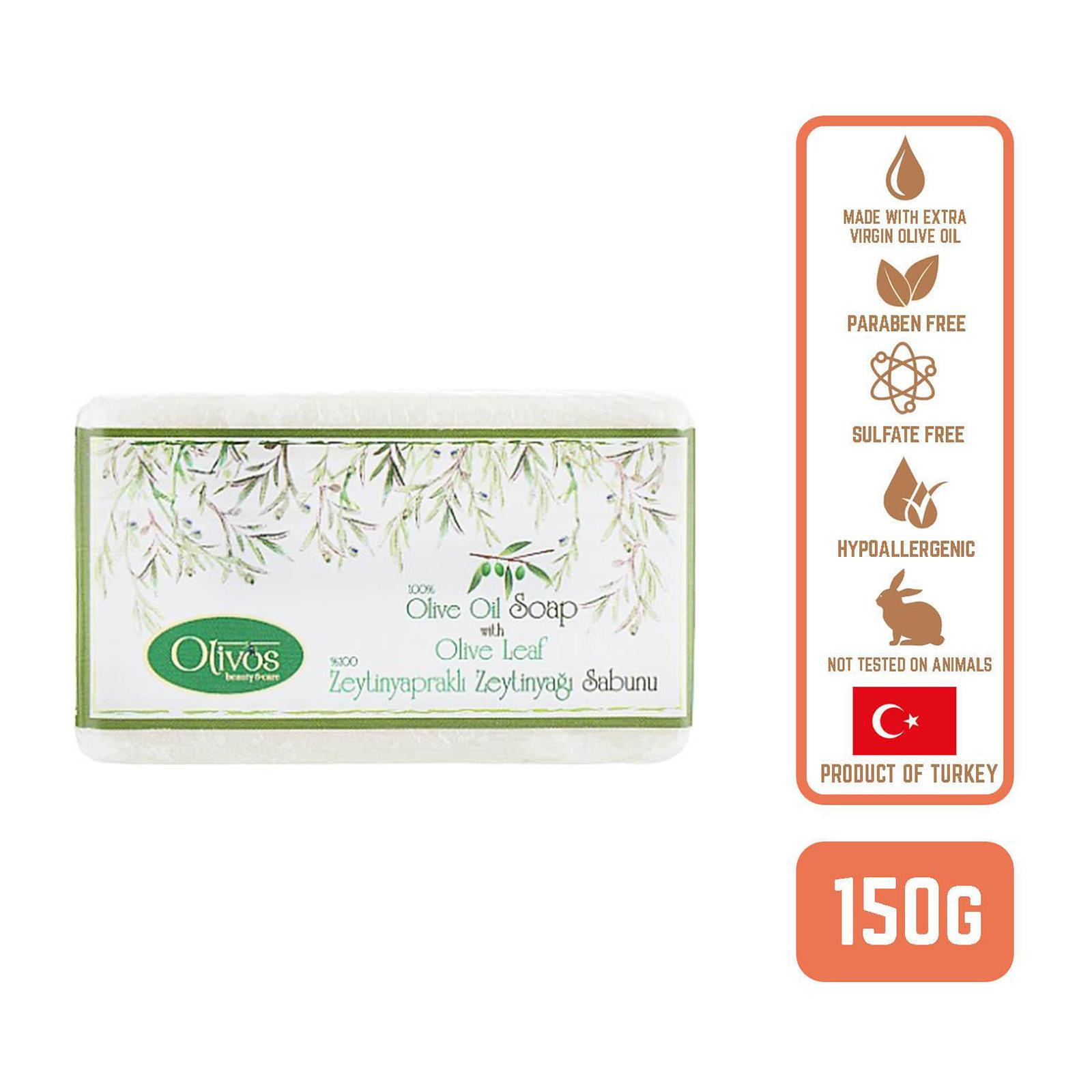 Olivos Olive Oil Classic Olive Oil Soap with Olive Leaf