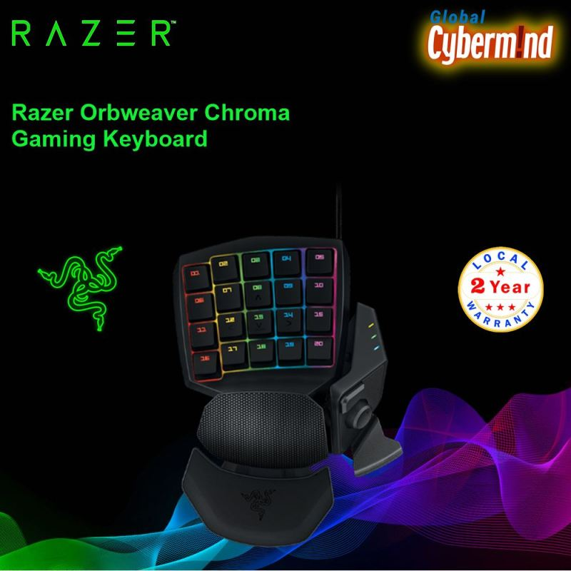 Razer Orbweaver Chroma Gaming Keyboard Singapore