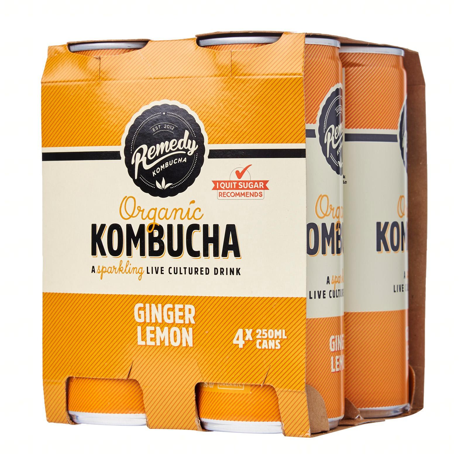Remedy Organic Kombucha Ginger Lemon