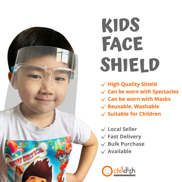 Buy *SG SALES* 4 x Sets of Full Face Shield Spectacles for Kids Singapore