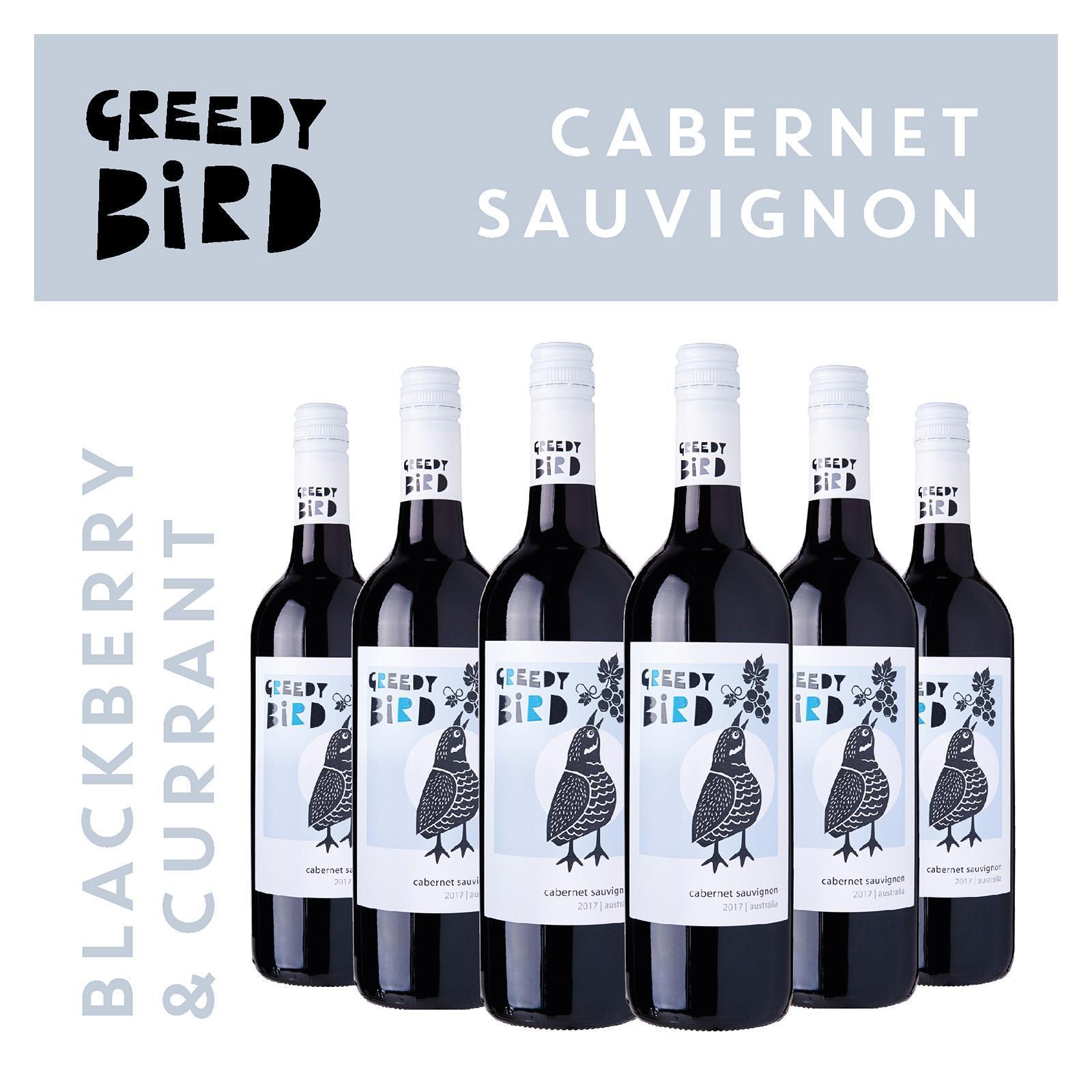 Greedy Bird South Australia Cabernet Sauvignon - Case Red Wine