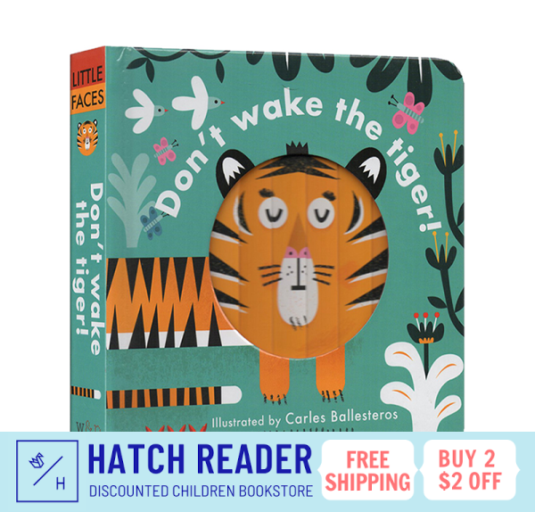 [SG Stock] Little Faces: Dont Wake the Tiger  INTERACTIVE english story book for children child kids baby 0 1 2 3 years old sensory play flash card picture