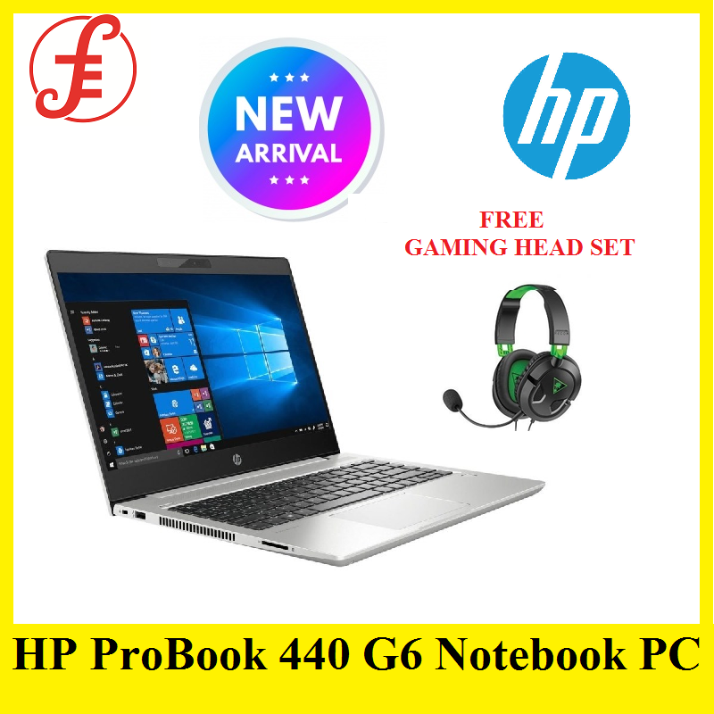 HP ProBook 440 G6 Notebook PC (Core i5 8265U 1.6Ghz 14 (1366x768) BT Win 10 Pro Webcam) 6QJ31UT