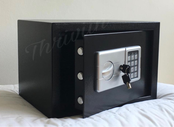 Premium A4 Digital Safe Box with In-built Lighting, Siren, Double Layer