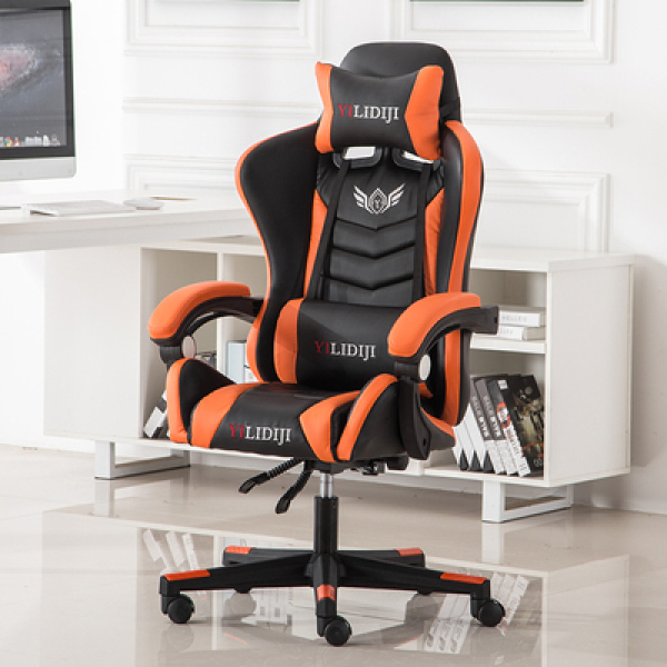 💝 Gaming Chair Spring Seat Footrest Massager Recline Home Office Computer Competitive Racing Ergonomic Comfortable High Back Massager 💝