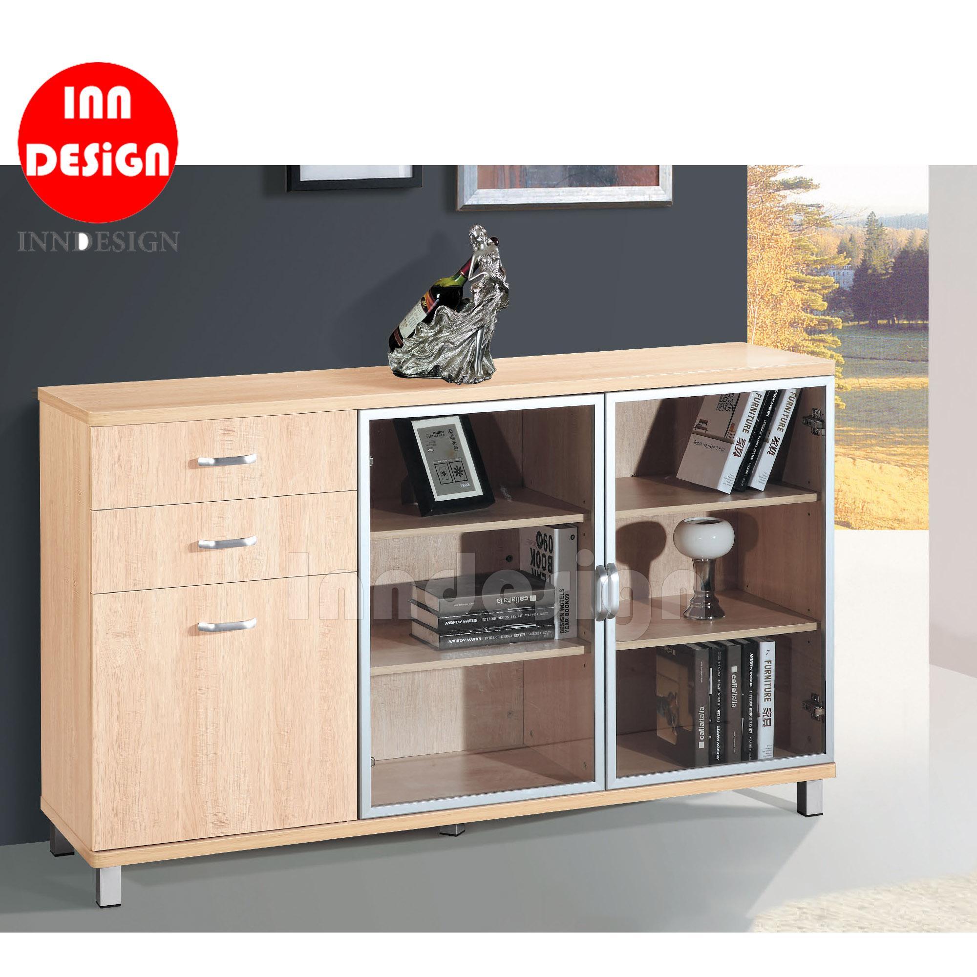 Lucaste Maple Buffet Hutch/ Bookcase (L150cm)