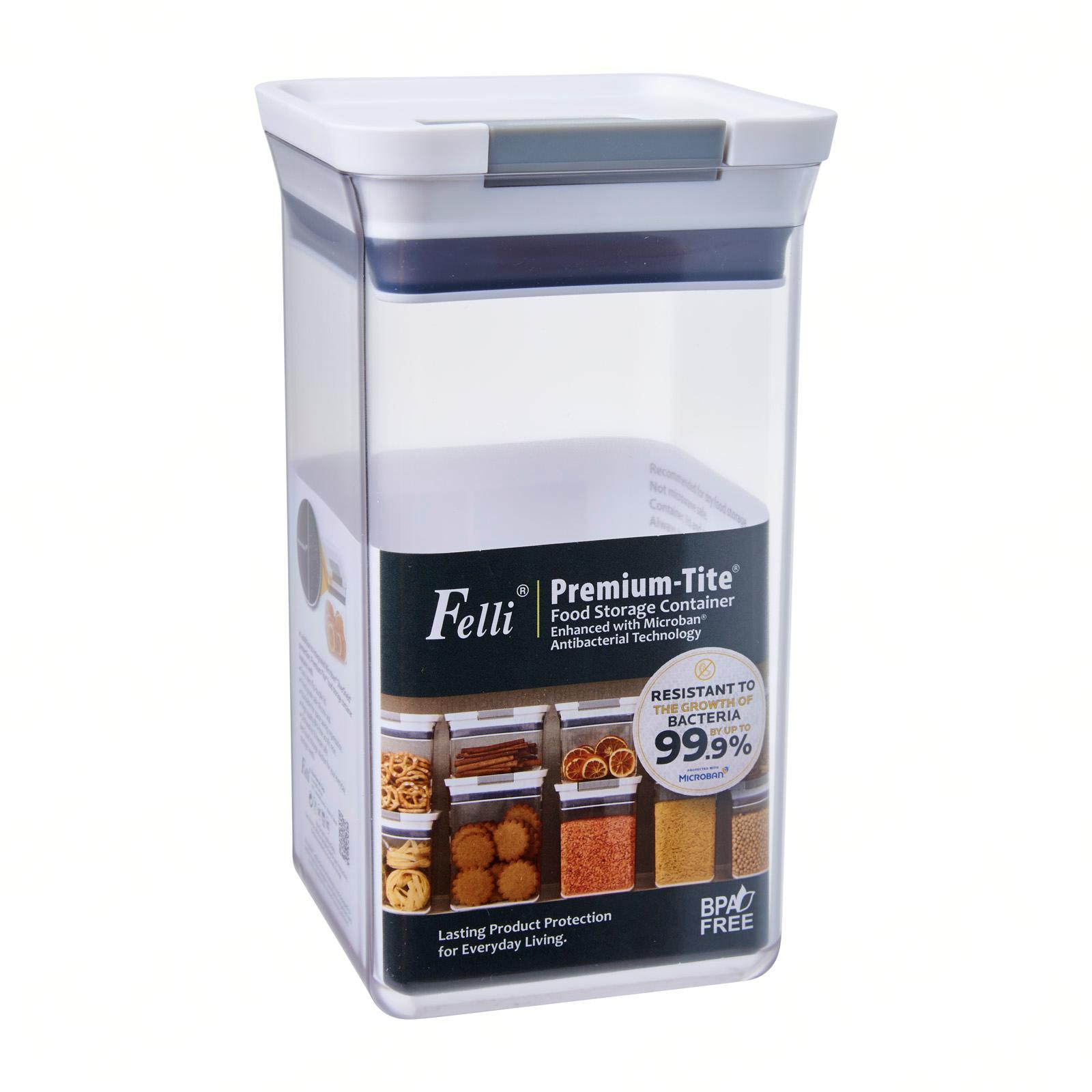 Felli Premium Tite Food Storage Container Enhanced with Microban Antibacterial Technology 1.4L