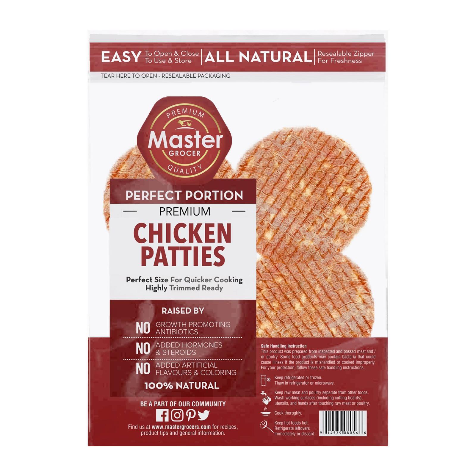 Master Grocer Chicken Burger Patties 4pcs - Frozen