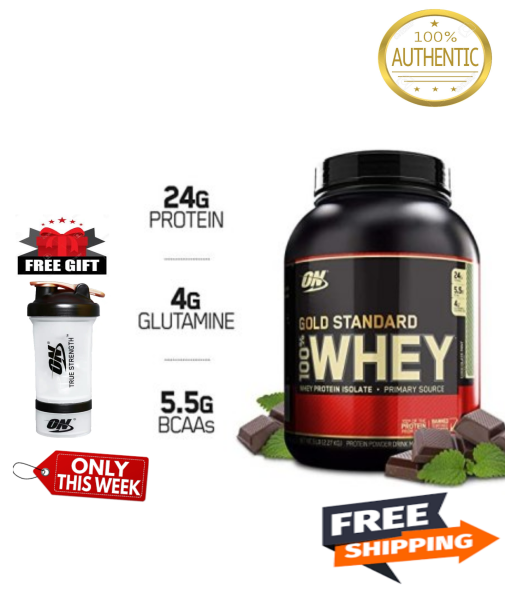 Buy Optimum Nutrition Gold Standard Whey Protein 5 Lbs (Select Flavor) Free Optimum Nutrition Shaker Bottle (Expiry 02/2022)  FREE Shipping 2-3 Days by Racepack Singapore