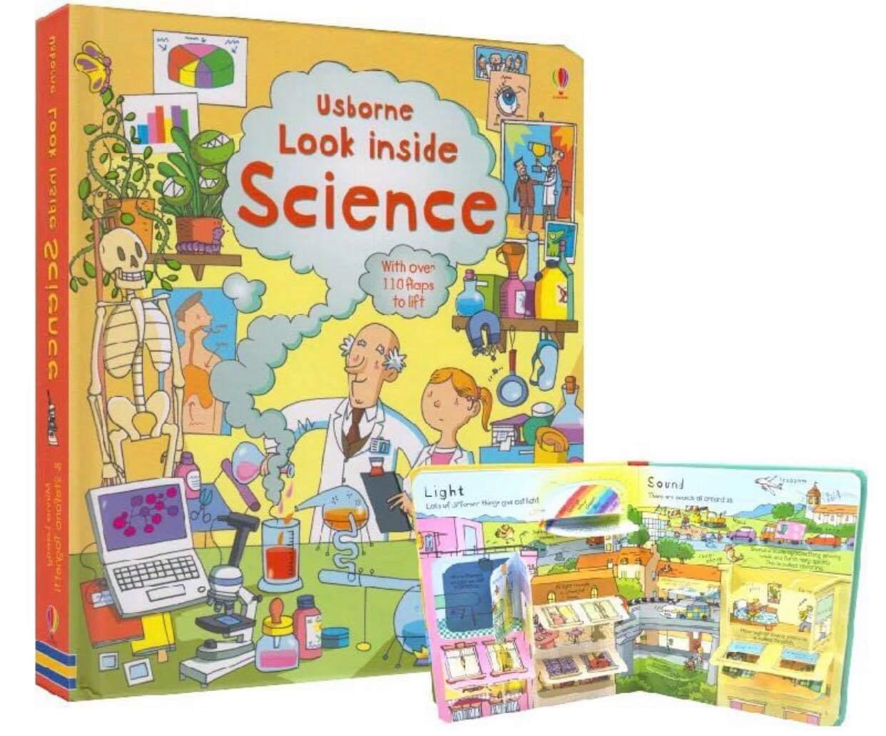 Usborne English Childrens 3d Picture Usborne Look Inside Science.