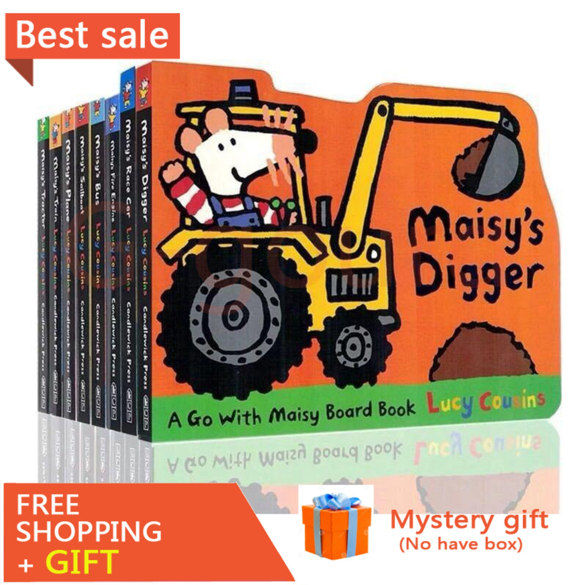 8 Books Maisy Series Children Educational English Picture Story Baby Board Card Book Set Coloring Books for Kids Children