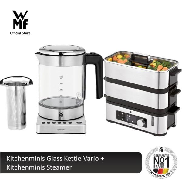 WMF Kitchenminis Glass Kettle Vario 0413188811 + Kitchenminis Steamer 0415098211 Singapore