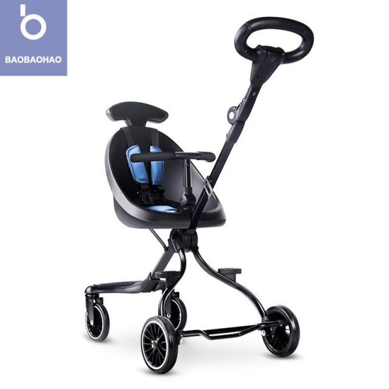 BAOBAOHAO V1 Baby Stroller Two Way Push Portable Lightweight Foldable Baby Trolley Installation-free Singapore