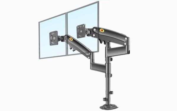 H180 Dual Monitor Arm Bracket / Monitor Support with Double Arms / Dual Monitor Desk Stand / Monitor Mount / International Vesa Compatible