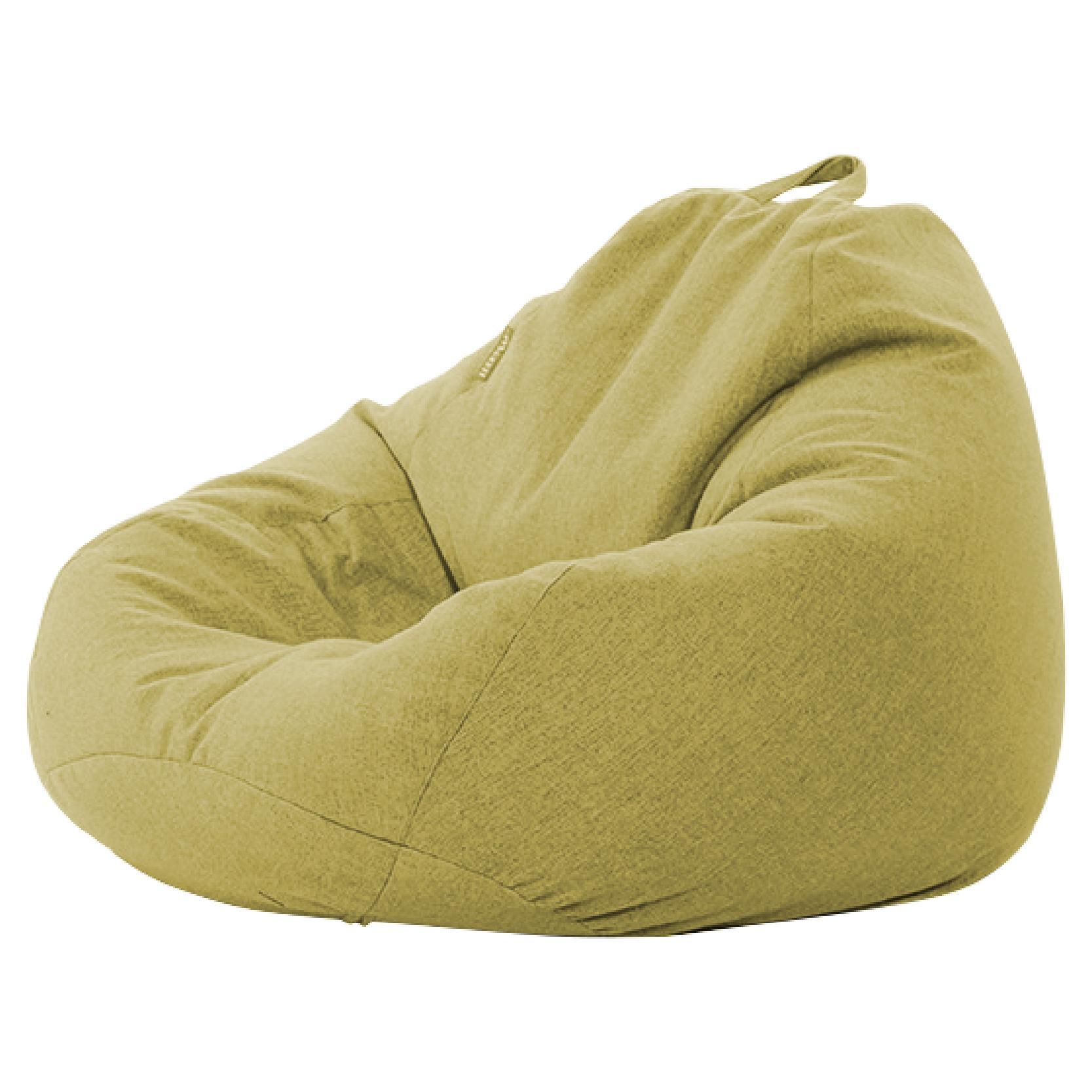 JIJI Nami Bean Bag Size : 90 X 110CM (Bean Bag) - - Beanbag/ Bean bag Chair /Styrofoam particles filled/ Fabric outer layer/ Washable / small sofa (SG)