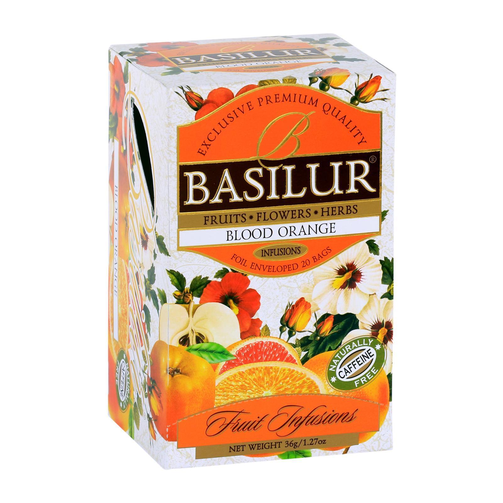 Basilur Caffeine-Free Blood Orange Fruit Infusions Herbal Tea