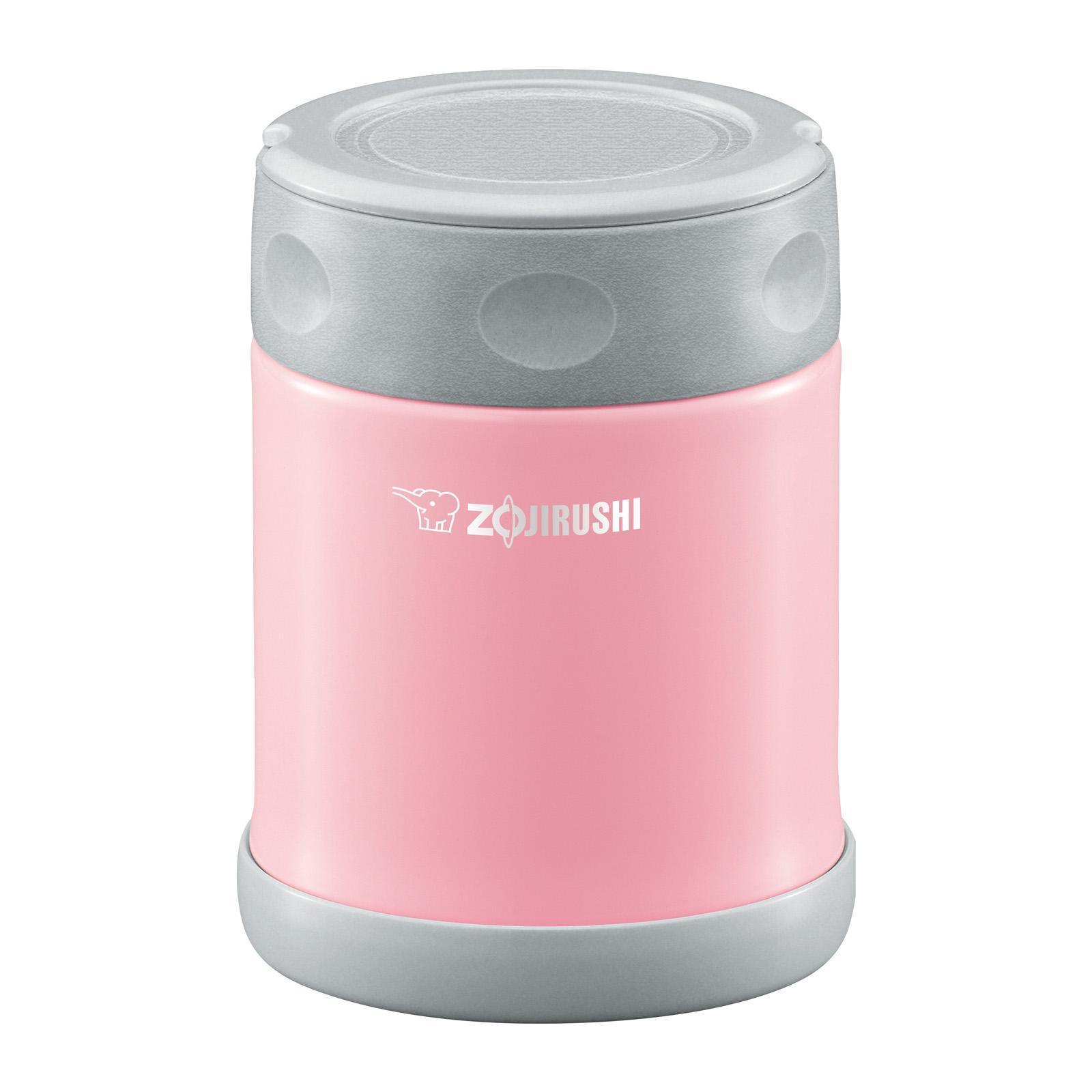 Zojirushi Stainless Steel Food Jar (Pink) - Lunch Kit 0.35L